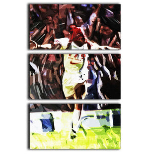 Ian Wright Just Done It 3 Split Panel Canvas Print - Canvas Art Rocks - 1