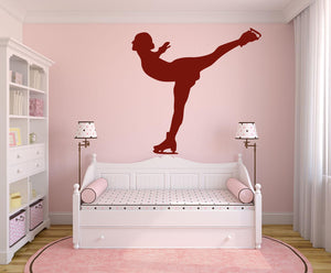 Ice Skater Wall Decal - Canvas Art Rocks - 1
