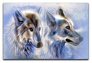 Ice Wolf Painting Canvas Print or Poster  - Canvas Art Rocks - 1