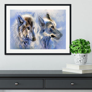 Ice Wolf Painting Framed Print - Canvas Art Rocks - 1