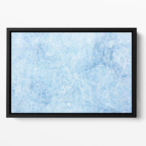 Ice of Baikal lake Floating Framed Canvas