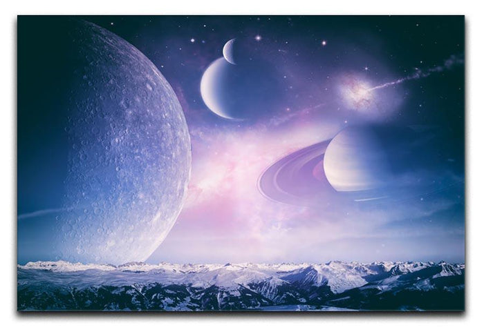 Ice world and planets Canvas Print or Poster
