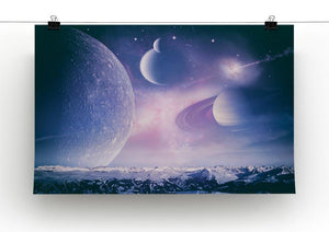 Ice world and planets Canvas Print or Poster - Canvas Art Rocks - 2