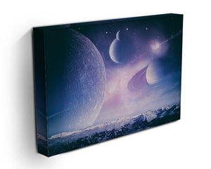 Ice world and planets Canvas Print or Poster - Canvas Art Rocks - 3
