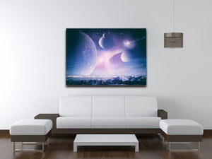 Ice world and planets Canvas Print or Poster - Canvas Art Rocks - 4