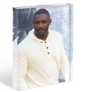 Idris Elba Acrylic Block - Canvas Art Rocks - 1