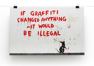 Banksy If Graffiti Changed Anything Print - Canvas Art Rocks - 2