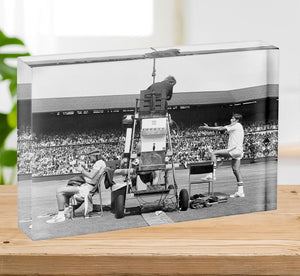 Ilie Nastase argues with the umpire Acrylic Block - Canvas Art Rocks - 2