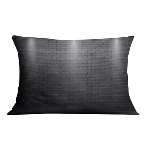 Illustartion of brick wall black Cushion - Canvas Art Rocks - 4