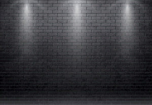 Illustartion of brick wall black Wall Mural Wallpaper - Canvas Art Rocks - 1