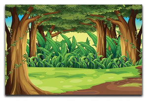 Illustration of the giant trees in the forest Canvas Print or Poster  - Canvas Art Rocks - 1