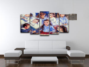 Images of childrens character heads by Renoir 5 Split Panel Canvas - Canvas Art Rocks - 3