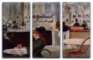 In Cafe 1 by Manet 3 Split Panel Canvas Print - Canvas Art Rocks - 1