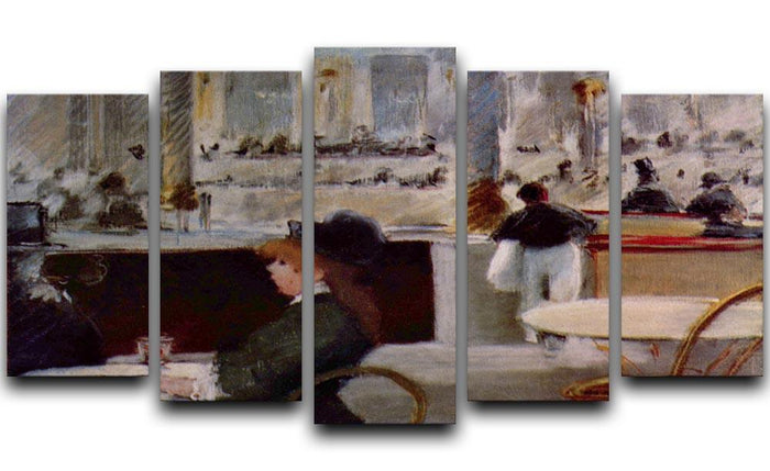 In Cafe 1 by Manet 5 Split Panel Canvas