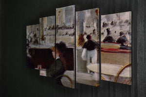 In Cafe 1 by Manet 5 Split Panel Canvas - Canvas Art Rocks - 2