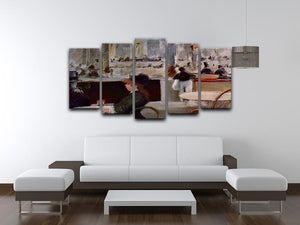 In Cafe 1 by Manet 5 Split Panel Canvas - Canvas Art Rocks - 3