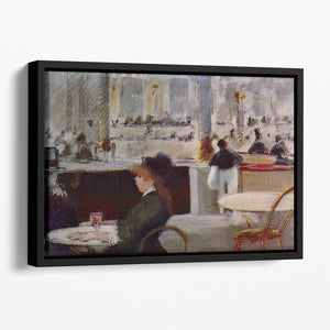 In Cafe 1 by Manet Floating Framed Canvas