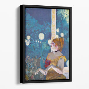 In concert Cafe The Songs of the dog by Degas Floating Framed Canvas
