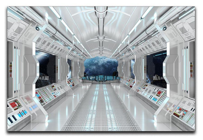 Inside Space Shuttle Canvas Print or Poster