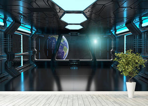 Inside a Spaceship Wall Mural Wallpaper - Canvas Art Rocks - 4