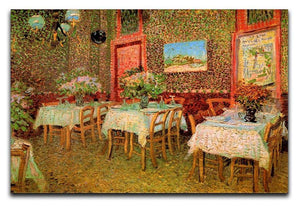 Interior of a restaurant by Van Gogh Canvas Print & Poster  - Canvas Art Rocks - 1