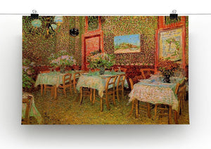 Interior of a restaurant by Van Gogh Canvas Print & Poster - Canvas Art Rocks - 2