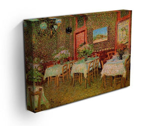 Interior of a restaurant by Van Gogh Canvas Print & Poster - Canvas Art Rocks - 3