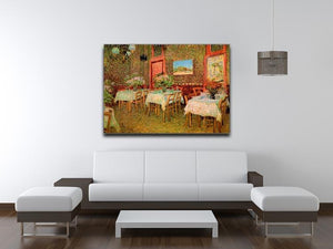 Interior of a restaurant by Van Gogh Canvas Print & Poster - Canvas Art Rocks - 4