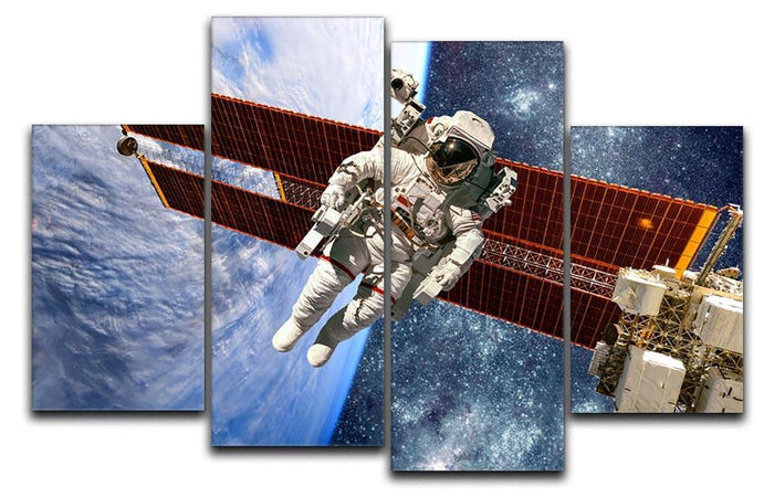 International Space Station and astronaut 4 Split Panel Canvas