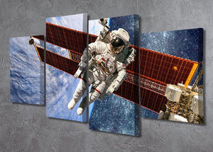 International Space Station and astronaut 4 Split Panel Canvas - Canvas Art Rocks - 2