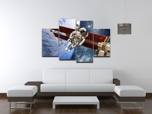International Space Station and astronaut 4 Split Panel Canvas - Canvas Art Rocks - 3