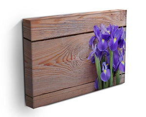 Iris on an old wooden background Canvas Print or Poster - Canvas Art Rocks - 3