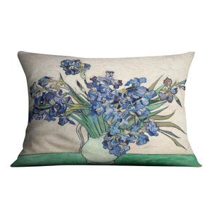Irises in a vase Throw Pillow
