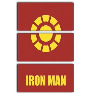 Iron Man Minimal Movie 3 Split Panel Canvas Print - Canvas Art Rocks - 1