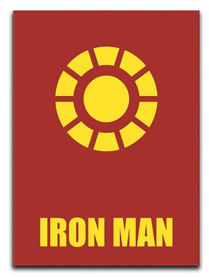 Iron Man Minimal Movie Canvas Print or Poster  - Canvas Art Rocks - 1