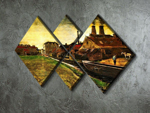 Iron Mill in The Hague by Van Gogh 4 Square Multi Panel Canvas - Canvas Art Rocks - 2