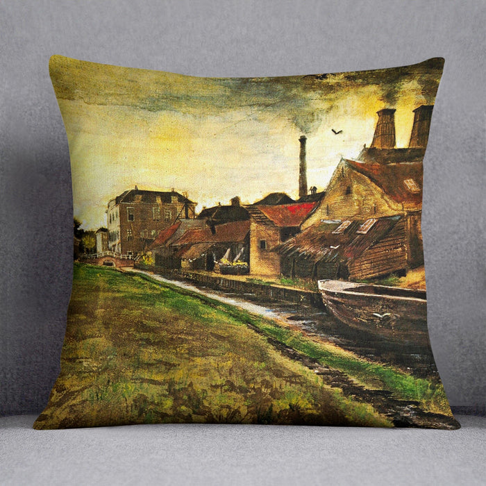 Iron Mill in The Hague by Van Gogh Throw Pillow