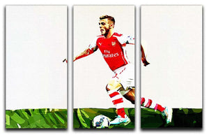 Jack Wilshere 3 Split Panel Canvas Print - Canvas Art Rocks - 1