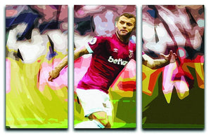 Jack Wilshere West Ham 3 Split Panel Canvas Print - Canvas Art Rocks - 1