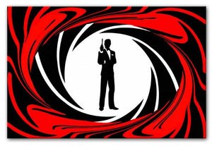 James Bond Opening Sequence Print - Canvas Art Rocks - 1