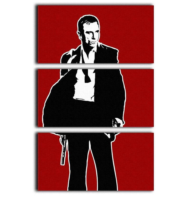 James Bond Casino Royale Pop Art 3 Split Panel Canvas Print - Canvas Art Rocks - 1