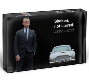 James Bond Shaken Not Stirred Acrylic Block - Canvas Art Rocks - 1