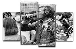 James Hunt swigging champagne 4 Split Panel Canvas  - Canvas Art Rocks - 1