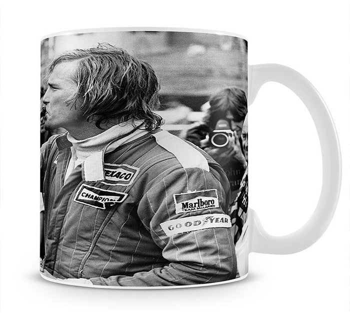 James Hunt swigging champagne Mug