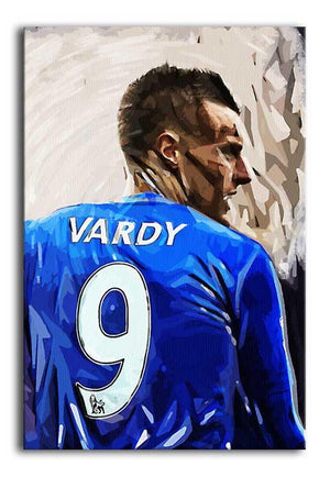 Jamie Vardy Print - Canvas Art Rocks - 1