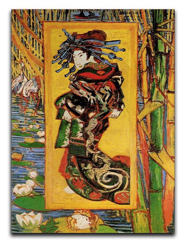 Japonaiserie Oiran after Kesa Eisen by Van Gogh Canvas Print or Poster