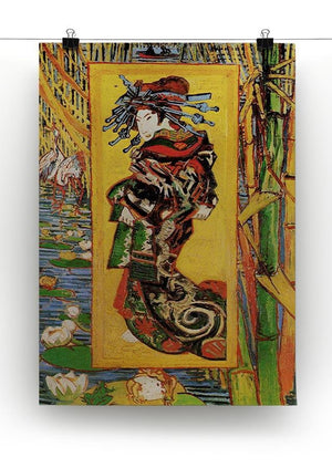 Japonaiserie Oiran after Kesa Eisen by Van Gogh Canvas Print & Poster - Canvas Art Rocks - 2