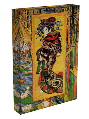 Japonaiserie Oiran after Kesa Eisen by Van Gogh Canvas Print & Poster - Canvas Art Rocks - 3