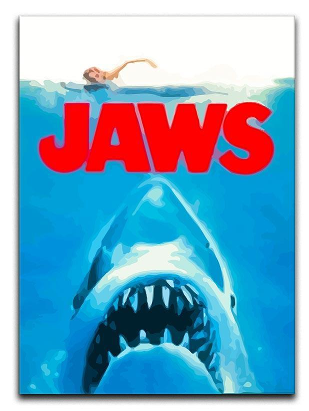 Jaws Portrait Canvas Print or Poster  - Canvas Art Rocks - 1