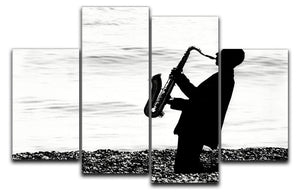 Jazz on the beach 4 Split Panel Canvas - Canvas Art Rocks - 1